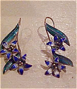 Enamel flower earrings (Image1)