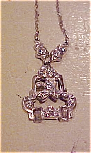 Art deco necklace with rhinestones (Image1)