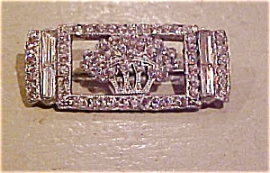 Art Deco pin with rhinestones (Image1)