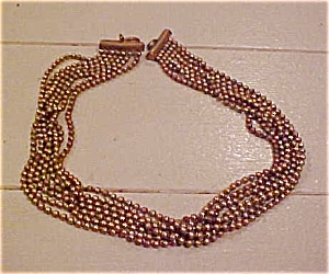 Brass bead necklace (Image1)