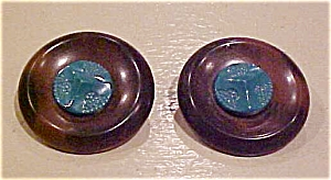 Plastic button earrings (Image1)