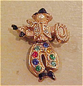Cowboy scatter pin with rhinestones (Image1)