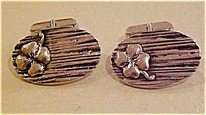 Sterling four leaf clover cufflinks (Image1)