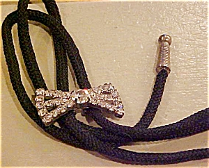 Rhinestone bow bolo tie (Image1)