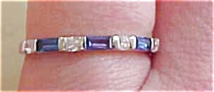 Blue and clear rhinestone ring (Image1)