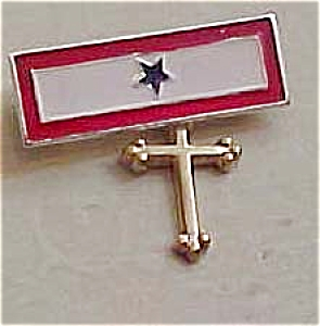 Sterling bar pin with cross (Image1)