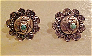 Sterling and turquoise earrings (Image1)