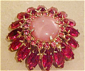 Pink and Fuschia rhinestone pin (Image1)