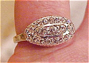 Sterling and rhinestone ring (Image1)