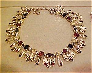 Fringe style necklace with rhinestones (Image1)