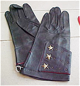 Navaho leather gloves with stars (Image1)
