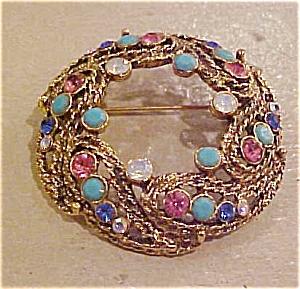 Circle pin w/rhinestones (Image1)