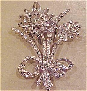 Coro flower rhinestone pin (Image1)