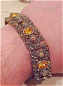 Czechoslovakian bracelet w/rhinestones (Image1)