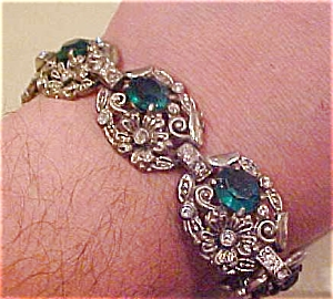 Pot metal and rhinestone bracelet (Image1)