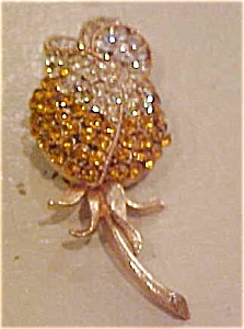 Capri flower pin with rhinestones (Image1)