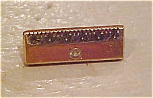 Gold filled ruler pin with rhinestone (Image1)