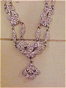 Edwardian style necklace w/rhinestones (Image1)