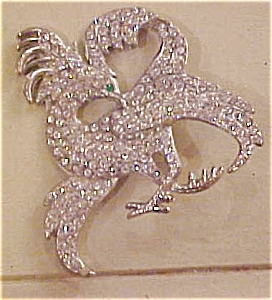 Bird of paradise rhinestone pin (Image1)