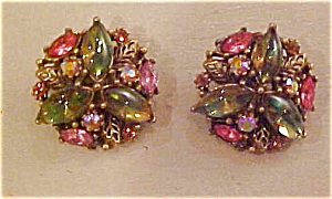 Art rhinestone earrings (Image1)