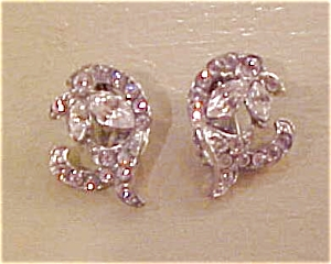 1940's rhinestone earrings (Image1)