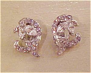 1940's rhinestone earrings (Image1)