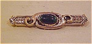 Czechoslovakian pin w/glass stone (Image1)