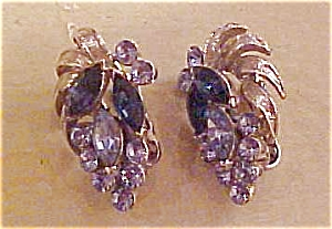 Coro rhinestone earrings (Image1)