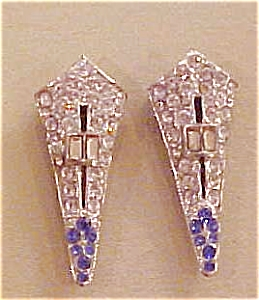 Pair of rhinestone dress clips (Image1)