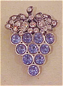 Grape dress clip with rhinestones (Image1)