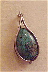 Sterling turquoise pendant (Image1)