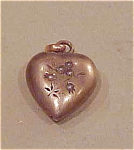 Gold Filled Heart Charm With Pearls