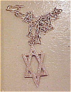 Sterling Jewish Star necklace (Image1)