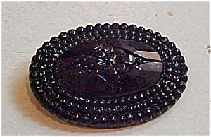 Czechoslovakian molded glass pin (Image1)