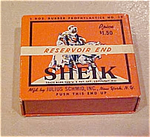 Sheik Resevoir End Condom Box