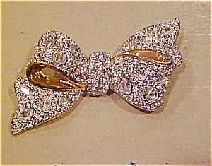 Swarovski rhinestone bow pin (Image1)