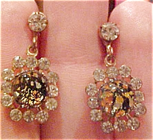 Earrings with rhinestones and glass (Image1)