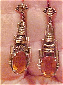 Czechoslovakian deco earrings (Image1)