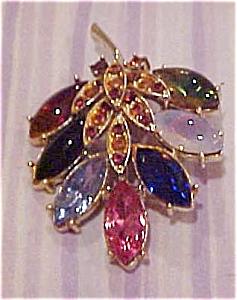 Rhinestone leaf pin (Image1)