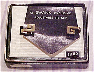 Swank 1960's tie bar in box (Image1)