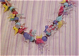 Murano glass bird necklace (Image1)