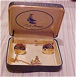 Lord Newport Cuff links & Tie tack (Image1)