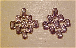 Sterling silver link design earrings (Image1)