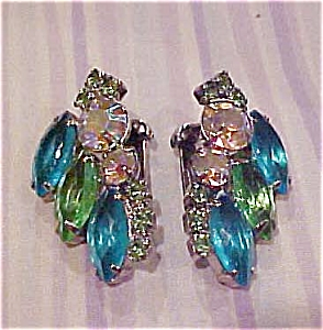 Rhinestone earrings (Image1)