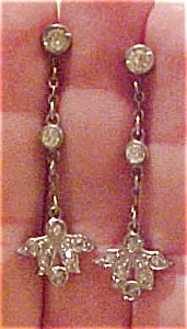 Art Deco earrings with rhinestones (Image1)