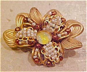 Miriam Haskell flower brooch (Image1)
