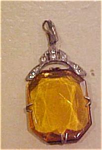 Art deco topaz glass pendant (Image1)