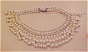 Fringe style faux pearl necklace (Image1)