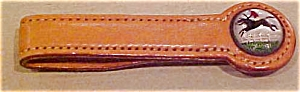 Leather tie bar with horse design (Image1)