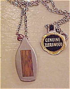 Zebrawood and pewter pendant (Image1)